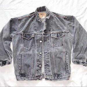 GAP Denim Jacket Black Vintage Womens S Girls XL